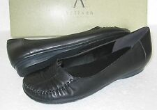 NEW CLARKS JUMP REALLY SOFT BLK LEATHER WORK SHOES SIZE 4.5