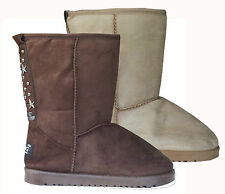 Ladies Womens Girls Fur Warm Winter Thermal Snug Ankle Yeti Boots Shoes Size 2-5