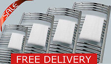 Chrome Heated Towel Rail / Radiator, Straight / Curved, Variety Sizes