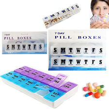 Weekly 7 Day Pill Box Medicine Storage Tablet Organizer Carrier Pills Container
