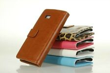 For HTC DESIRE 600 606W PU Stand Wallet Leather Case Cover ID Card Slot