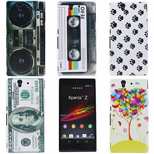 Fashion Radio Tape Colored Tree Hard Back Cover Skin Case for Sony Xperia Z L36H