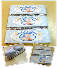 Personalised Chocolate Christening PHOTO Party Favours - Wrappers or Pre-made N9
