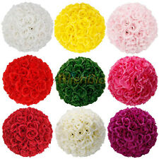 25cm Super Elegant Satin Rose Kissing Ball for Wedding Bridal Flower Decor Al-1