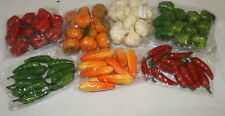 BULK FAKE MINI FRUIT VEGETABLE DISPLAY DECORATIONS 84 PIECES FRUITS VEGETABLES