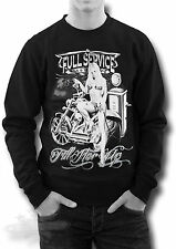 BIKER,ROCKABILLY,TATTOO,FILL HER UP,PIN UP GIRL DESIGN,SWEATSHIRT,all sizes