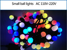5M 50lights 110-220V Small Led ball String Christmas Fairy Party Waterproof Ip65