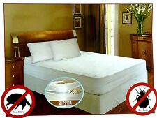 WATERPROOF VINYL ZIPPERED MATTRESS COVER All SIZES  BED BUG ALLERGY PROTECTOR