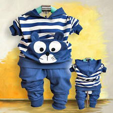 13 Fall Cute Kitty Baby boys clothes 2pcs/set hoody+pants girls clothing outfits
