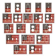 Single standard size Lightswitch Cover-- Weathered American Flag