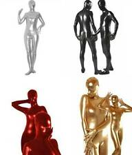 Unisex METALLIC Full Body Lycra Suit Second Skin Cosplay Catsuit Zentai Bodysuit