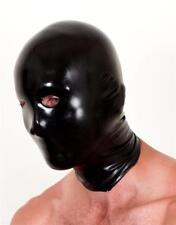 Chlorinated Anatomical Latex Mask - Black Red Translucent - Rubber Fetish