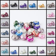 20Pcs Porcelain Ceramic Crystal European Charm Spacer Big Hole Bead Fit Bracelet