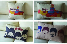 The Beatles Portrait Yellow Submarine Pattern Cushion Cover throw pillow case