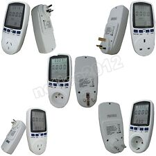 EU USA AU UK style Energy meter Watt Voltage Volt Meter Monitor Analyzer power