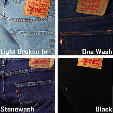 Levis 501 Men Straight Denim Jeans - Original Fit