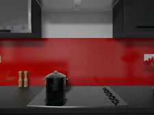 RAL Coloured Glass Splashbacks Tall Upstands upto 600mm for Kitchens/Bathrooms