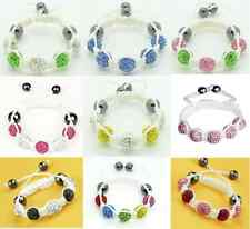 GIRLS SHAMBALLA DIAMANTE CRYSTAL BRACELET - Choose Colour - UK Seller