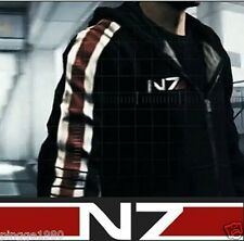 Mass Effect 3 N7 100% Cotton Cosplay Hoodie Coat Costume Jacket P&D