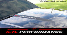 5.7L Performance Hood Decals Ford Mustang F150 - Set of two pick your color!
