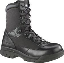 """Bates Women's 8"""" Steel Toe Side Zip Leather Tactical/Security/Police Boots-02720"""