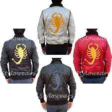 New Slim Fit Drive Trucker Biker Rider Ryan Gosling Embroidered Scorpion Jacket