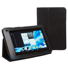 ACER ICONIA B1-710 LEATHER STAND CASE WITH SCREEN GUARD, CLEAN CLOTH  & APP CARD