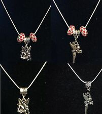 Silver Plated Necklace with Tinkerbell Charm with Crystals