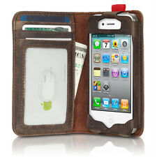 New Antique Book Style Case Cover Card Wallet Brown for iPhone 4 4G 4S 5 5G 5S
