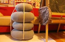 A SUIT OF 8 STONES SHAPE BEAN  Cotton CHAIR BED LOUNGER BAGS THROW PILLOW SOFA