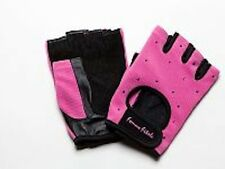 Women's HOT PINK Femme Fitale Fingerless Gloves Weigh Lifting, Fitness, Gym