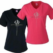 "2014 CORVETTE""C7"" NEW GENERATION TSHIRT LADIES GRAY  BUDS CHEVROLET ST MARYS O"