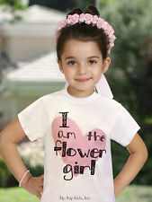 NEW Tip Top Wedding Rehearsal THE FLOWERGIRL Pink White Heart Cotton Tshirt Gift