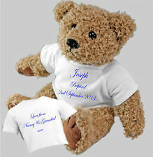 Personalised Bear Christening, Baptism, Naming Day Ceremony - Gift Girls & Boys