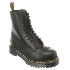 Mens Dr Martens 8761 BXB 10 Eye Lace Up Cap Steel Toe Boot Black Fine Haircell