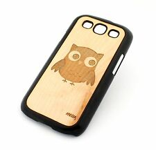 PICK ONE REAL WOOD PLASTIC SLIM CASE COVER FOR SAMSUNG GALAXY S3 S III LASER CUT