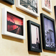 Hanging Photo Frame Decor A4 Wood Wall Mounted Picture Art For Photograph