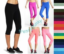 Women Leggings Tights Capri Opaque Cropped Seamless Stockings Socks Yoga S - 3XL