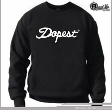 DOPEST LOGO CREW NECK SWEATER SIZES M-2XL DOPE SOCIETY ILLEST OF THE ILL HIP HOP