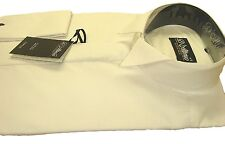 "FREE POST Mens Ivory  COTTON RICH  Wing Collar Dress Shirt Wedding 14.5-23"" BNWT"
