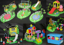 PEPPA PIG PLAY GROUND / PARK SETS. ZIP LINE, DUCK POND SWINGS SLIDE SEE-SAW TOYS