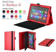 For Microsoft 2013 Surface 2 --Leather Folio Cover Stand Case 11 color Select UK