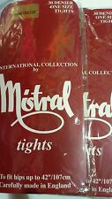 MISTRAL 30 DENIER TIGHTS LADIES/WOMENS VARIOUS COLOURS AMERICAN TAN,BARELY BLACK