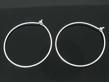 Wholesale Lots Silver Plated Wine Glass Charm Rings/Earring Hoops 29mm x 25mm