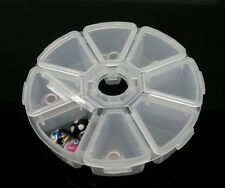 Wholesale Lots Plastic Clear Beads Display Storage Case Box 11cm Dia.