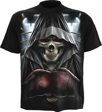Spiral Direct GAME ON Boxer Boxing Gloves Grim Reaper Death Men's T-Shirt Top