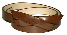 "Leather Bow Belt Women's 3/4"" Wide 9 Colors Size S-XL USA Seller"