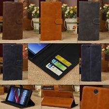 Flip PU Leather Wallet  Stand Case Cover For Sony  Sony XL39h Xperia Z Ultra