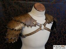 Leather leaf  shoulder armor, spring or fall color! Perfect for wood elf!!!