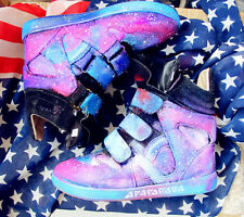 Womens Color Stitching Velcro Strap Inside Heels Sky Star Sneaker Ankle Boots